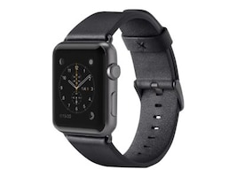 Belkin Classic Leather Band for Apple Watch, 42mm, Black, F8W732BTC00, 33418770, Wearable Technology