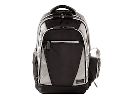 Eco Style Sports Voyage Backpack, Fits 17.3 Notebook, Black Silver, EVOY-BP17, 13932894, Carrying Cases - Notebook