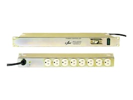 Eaton Basic ePDU 120V 1U Horizontal RM 5-15P Input 9ft Cord (8) 5-15R Outlets EMI RFI Filtering, T8-A-CB, 10019231, Power Distribution Units