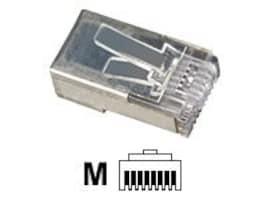 Black Box CAT5e Shielded Modular RJ-45 Plugs, 25-Pack, FM852-25PAK, 32994687, Cable Accessories