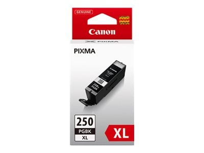 Canon Pigment Black PGI-250PGBK XL Ink Tank, 6432B001, 15139081, Ink Cartridges & Ink Refill Kits