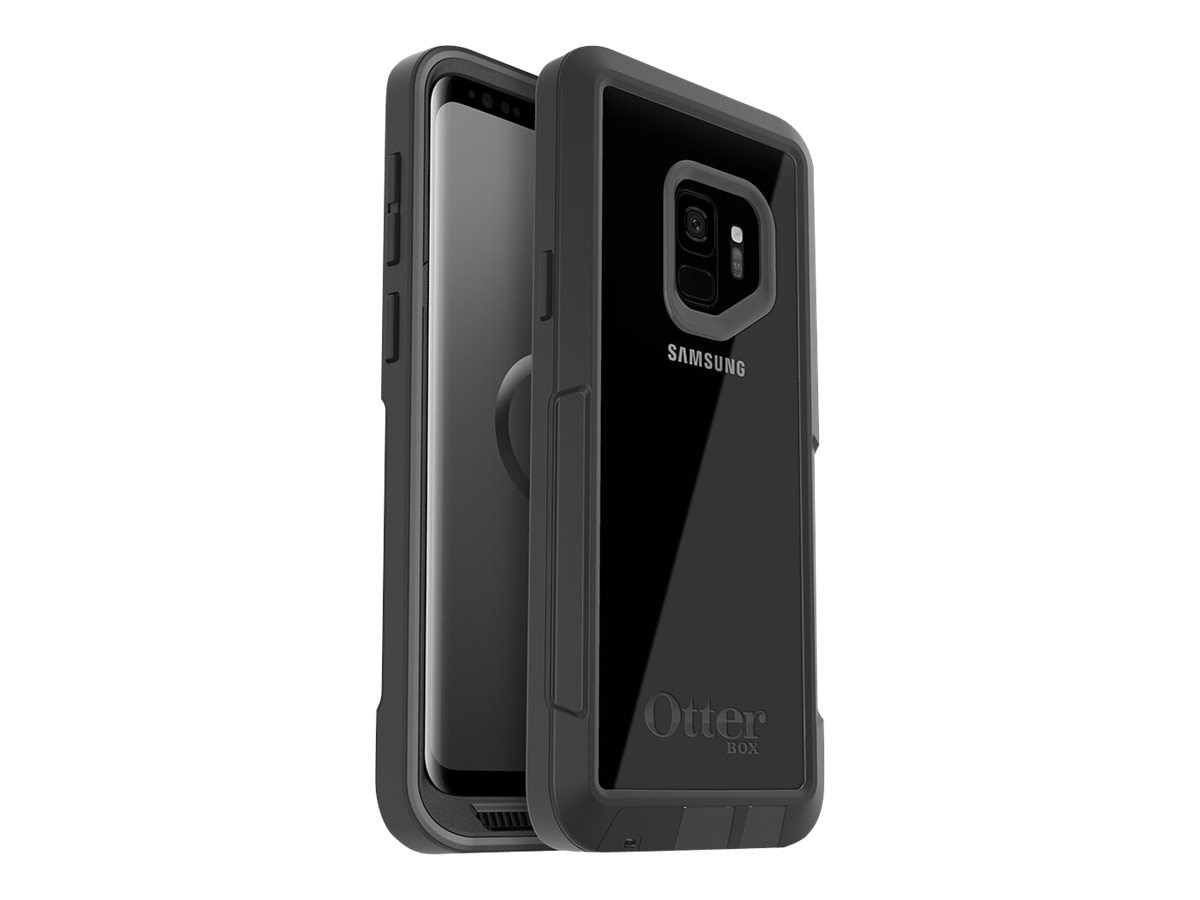 new style b314e f34bf OtterBox Pursuit Series Case for Samsung Galaxy S9, Black Clear, Pro Pack