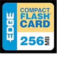 Edge 256MB CompactFlash Card, PE179472, 247197, Memory - Flash