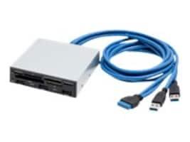 Syba 3.5 Drive Bay USB 3.0 Hub and Card Reader, SY-HUB50046, 31128234, PC Card/Flash Memory Readers