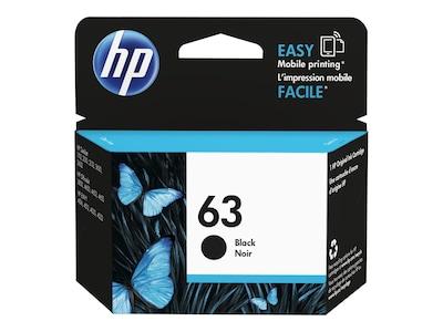 HP 63 Black Original Ink Cartridge, F6U62AN#140, 18816745, Ink Cartridges & Ink Refill Kits - OEM