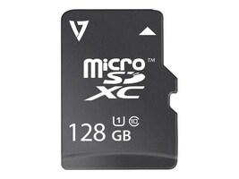 V7 128GB Micro SDXC UHS-1 Flash Memory Card, Class 10, VFMSD128GUHS1R-3N, 33411172, Memory - Flash