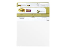 3M 25 x 30 Self Stick Post-It Easel Pads w  Recycled Paper - White (2 Pads 30 Sheets-Per-Pad), 559RP, 36646381, Paper, Labels & Other Print Media