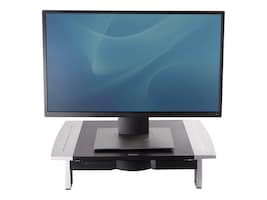 Fellowes Office Suites Monitor Riser Height Adjustable, Silver Black, 8031101, 5345008, Stands & Mounts - AV