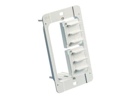 Erico Single Gang Low Voltage Mounting Plate, Plastic, White, MP1P, 34494045, Premise Wiring Equipment