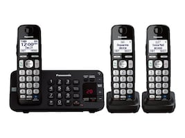 Panasonic DECT 6.0 Expandable Digital Cordless Answering System w  (3) Handsets, KX-TGE243B, 34750133, Telephones - Consumer