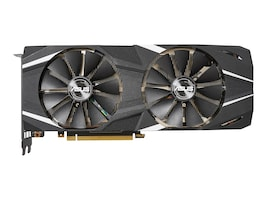 Asus NVIDIA GeForce RTX 2080 Ti PCIe 3.0 Graphics Card, 11GB GDDR6, DUAL-RTX2080TI-O11G, 36199171, Graphics/Video Accelerators