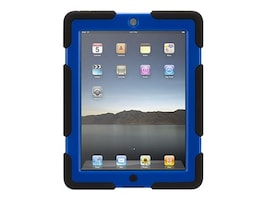 Griffin Survivor All-Terrain for iPad 2 3 4, Black Blue, GB35380-3, 17700601, Carrying Cases - Tablets & eReaders