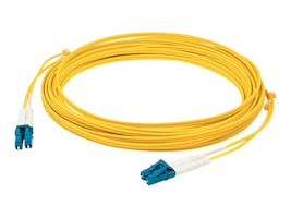 AddOn LC-LC 9 125 OS1 Singlemode Duplex Fiber Cable, Yellow, 1m, ADD-LC-LC-1M9SMF, 14483445, Cables
