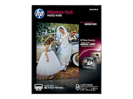 HP 8.5 x 11 Premium Plus Soft-gloss Photo Paper (50 Sheets), CR667A, 12870311, Paper, Labels & Other Print Media