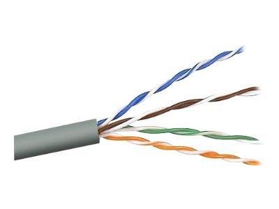 Belkin Cat5e Bulk Solid Cable, Plenum, Gray, 1000ft, A7L504-1000-P, 49258, Cables