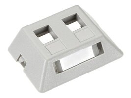 Black Box GigaBase2 Modular Furniture Faceplate, 2-Port, Gray, WPT461-MF, 32995815, Premise Wiring Equipment