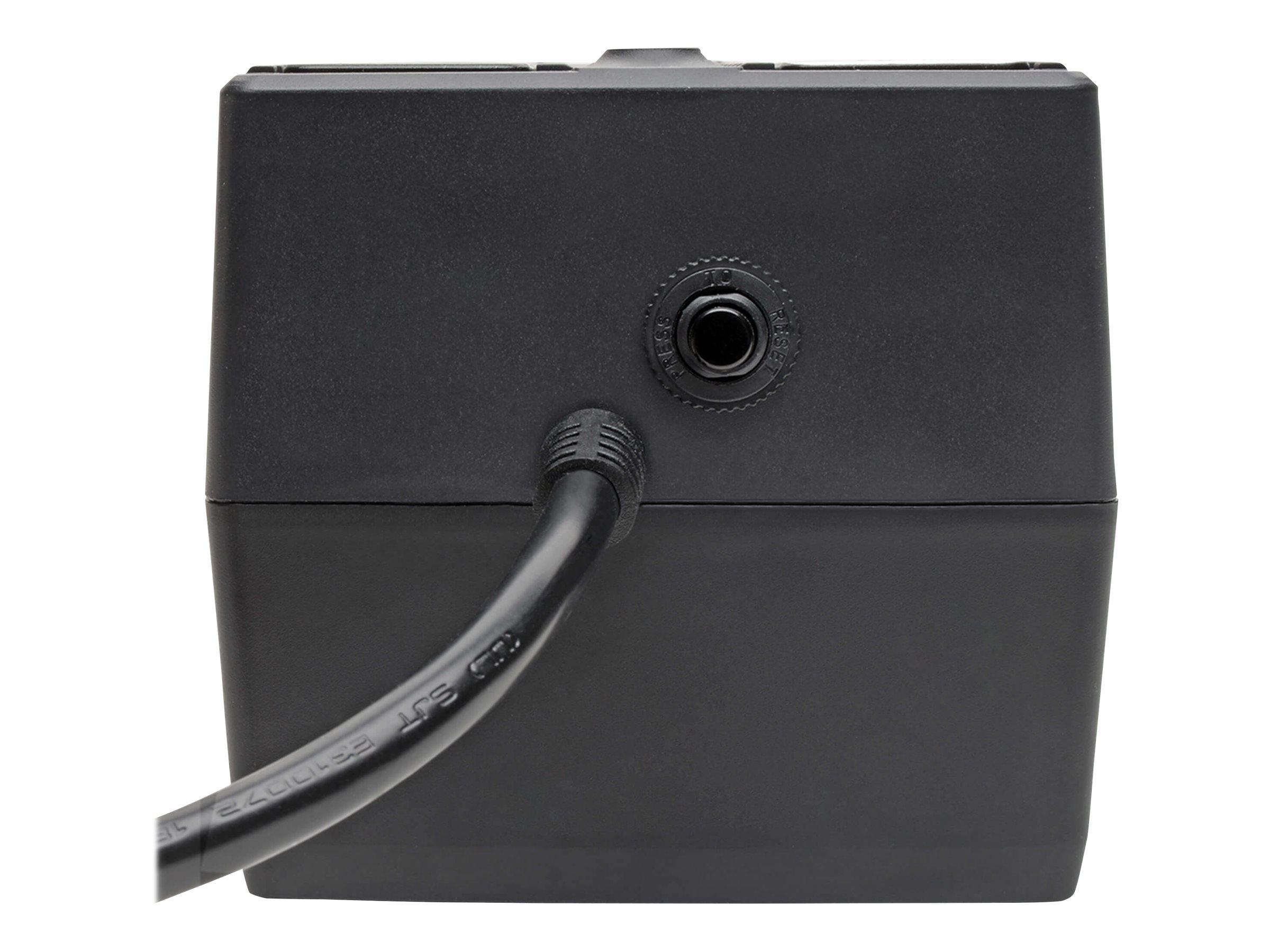 Black 6 Outlets Tripp Lite INTERNET350U 350VA 180W UPS Desktop Battery Back Up Compact 120V USB RJ11 PC