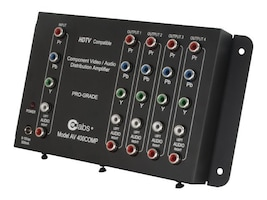 C2G 4-Output Component Video and Audio Distribution Amplifier, 41065, 6066078, Video Extenders & Splitters
