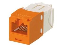Panduit CAT6 UTP Jack Module, Orange, CJ688TGOR-24, 31890296, Cable Accessories