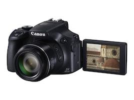 Canon PowerShot SX60 HS Digital Camera, 16.1MP, 65x Zoom, Black, 9543B001, 18175159, Cameras - Digital