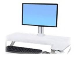 Ergotron WorkFit Single LD Monitor Kit, White, 97-935-062, 27125170, Stands & Mounts - AV