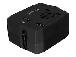 Aluratek Universal Travel Adapter w  Dual USB & Built-In 3000mAh Battery Charger, ATCP03F, 34307078, AC Power Adapters (external)