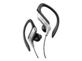 JVC In Ear Sports Clip Headphones, Silver, HAEB75S, 11138187, Earphones