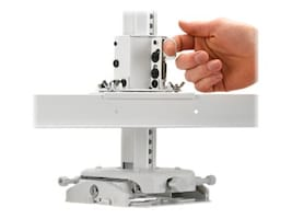 InFocus Projector Ceiling Mount System, White, PRJ-MNTKIT-UNIVW, 32109457, Stands & Mounts - AV