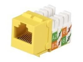 Black Box GigaTrue2 CAT6 Jacks, Universal Wiring, Component Level, 25-Pack, Yellow, FMT640-R3-25PAK, 33007372, Cable Accessories