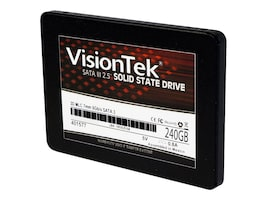 VisionTek 240GB SATA MLC 2.5 7mm 3D Solid State Drive, 900979, 34049339, Solid State Drives - Internal