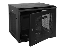 CyberPower Carbon 9U Wall Mount Enclosure, Perforated Front Rear Doors, CR9U61001, 33220966, Racks & Cabinets