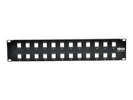 Tripp Lite 24-Port 1U RM Shielded Blank Keystone Multimedia Patch Panel w RJ45, USB, HDMI, Cat5e 6, N062-024-KJ, 33181645, Patch Panels