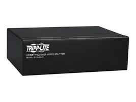 Tripp Lite 2-Port VGA SVGA 350MHz Video Splitter with Signal Booster, HD15 M 2xF, B114-002-R, 6127467, Video Extenders & Splitters