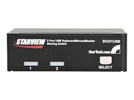 StarTech.com 2-Port StarView USB KVM Switch, (2) USB Cables, SV231USB, 248725, KVM Switches