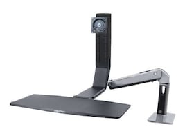 Ergotron WorkFit-A, Single LD Sit-Stand Workstation, 24-313-026, 15559069, Stands & Mounts - AV