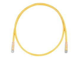 Panduit Cat6 Patch Cable with TX6 Connectors, Yellow, 5ft, UTPSP5YLY, 9672621, Cables