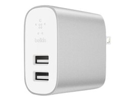 Belkin BOOST CHARGE 2PORT HOME CHARGERPWR W LIGHTNING TO USBA CABL RETAIL BOX, F8J230DQ04-SLV, 36584440, Power Cords
