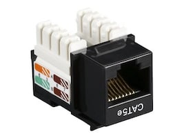 Black Box Connect CAT5e RJ-45 Keystone Jack, Black, CAT5EJ-BK, 32990651, Cable Accessories