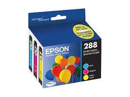 Epson 288 Color Ink Cartridges (3-pack Cyan, Magenta & Yellow), T288520-S, 34628162, Ink Cartridges & Ink Refill Kits - OEM