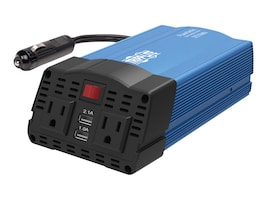 Tripp Lite 375W PowerVerter Ultra-Compact Inverter w  (2) AC Outlets, (2) USB Charging Ports, Battery Cables, PV375USB, 33686328, Power Converters