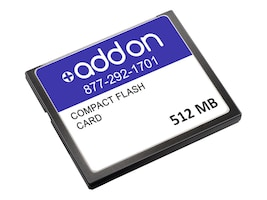 Add On 512MB CompactFlash Memory Card for Cisco 7600 Series, MEM-C6K-CPTFL512MAOK, 17872059, Memory - Flash