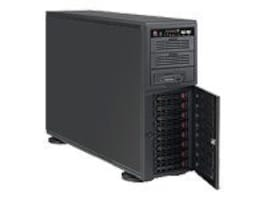 Supermicro Chassis, 4U Tower, EATX, 8 3.5 SAS SATA HS Bays, Low Noise, 865W PS, Black, CSE-743TQ-865B-SQ, 8629911, Cases - Systems/Servers