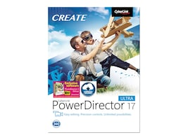 Cyberlink POWERDIRECTOR 17 ULTRA         DVD EASY VIDEO EDITING, PDR-EH00-RPU0-01, 36207231, Software - Video Editing