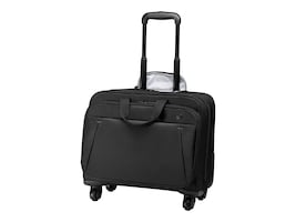HP 17 Business Roller Case, Black, 2SC68AA, 34972879, Carrying Cases - Notebook
