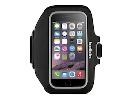 Belkin Sport-Fit Plus Armband for iPhone 6, Blacktop Overcast, F8W501-C00, 17869888, Carrying Cases - Phones/PDAs