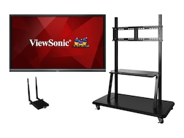 ViewSonic 86 IFP8650 4K Ultra HD LED Touchscreen Display with Trolley Cart and AC Adapter, IFP8650-E2, 36992620, Monitors - Large Format - Touchscreen