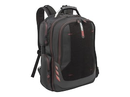 Mobile Edge 18 Core Gaming Backpack w  Velcro Panel & External USB 3.0 Quick-Charge Port Cable, Black, MECGBPV1, 35402253, Carrying Cases - Notebook