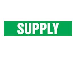 Panduit Self Stick Pipe Marker, Supply, Green, Size B, PPMA1591B, 36045112, Tools & Hardware