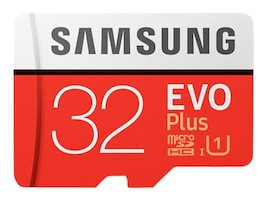 Samsung 32GB EVO Plus MicroSDHC Card with SD Adapter, MB-MC32GA/AM, 33749544, Memory - Flash