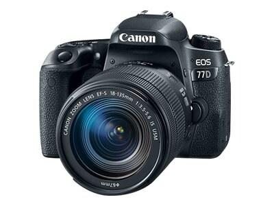 Canon EOS 77D Digital SLR Camera with EF-S 18-135mm f 3.5-5.6 IS USM Lens, 1892C002, 34516110, Cameras - Digital